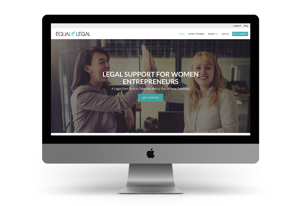 legal website design with membership