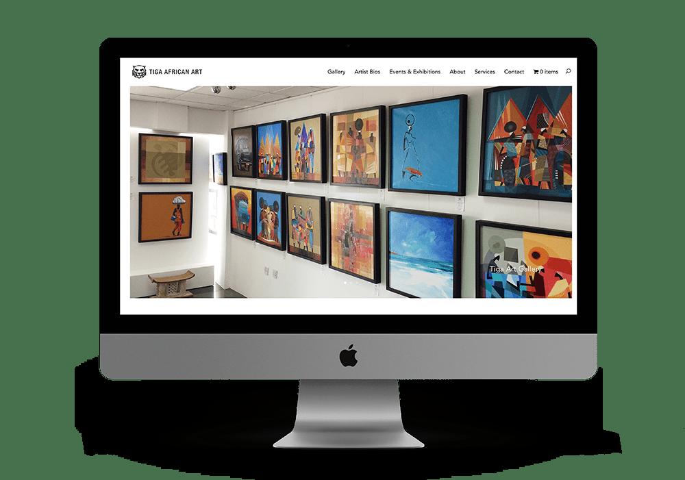 art gallery website design